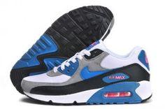 Nike Air Max 90 negro / azul / gris http://www.esnikerun.com/