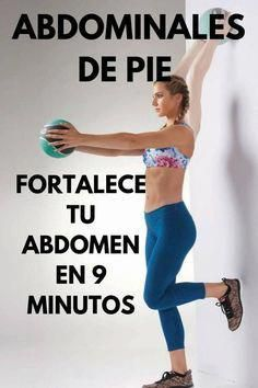ABDOMINALES DE PIE para fortalecer tu abdomen en 9 minutos If you want to have a toned abdomen and you are one of the people who hate crunches, we are going to show you a super complete routine with s Fitness Workout For Women, Yoga Fitness, Health Fitness, Physical Fitness, Standing Abdominal Exercises, Gym Workouts, At Home Workouts, Weekly Workouts, Weight Workouts