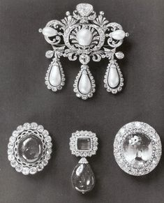 a selection of russian imperial jewels before being sold