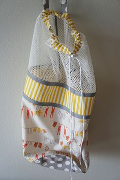 Travel Laundry Bag in Modern Patchwork