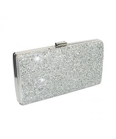Silver Clutch Evening Bag Fit   Wit Giltter Beaded Flap Clutch Evening  Handbag Purse - C118207T84W b69ba9804ad75