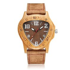 $14.24 - Casual Wood Business Watch Sport Men Quartz Wooden Leather Band Dress Wristwatch #ebay #Fashion