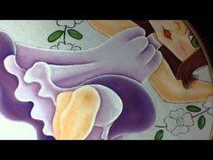 Pintura en tela niña en columpio # 5 con cony