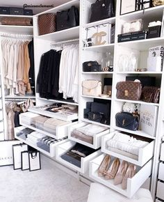 Unique closet design ideas will definitely help you utilize your closet space appropriately. An ideal closet design is probably the … Walk In Closet Design, Bedroom Closet Design, Closet Designs, Bedroom Decor, Bedroom Ideas, Ikea Bedroom, Master Bedroom, Cozy Bedroom, Rich Girl Bedroom