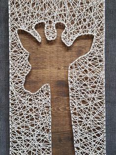 Rustic Giraffe string art