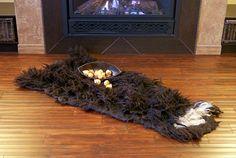 Thick Natural Wool Felt Rug Felt Throw Wall by elenasfelting, $380.00