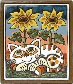 Fab handmade ceramic picture which would make a great present for any cat lover.