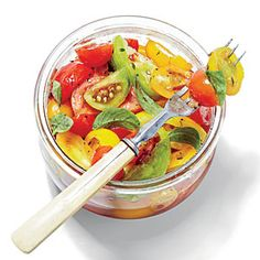 Marinated Tomatoes | Southern Living.  Serve with pasta or over fish, chicken, or steak.