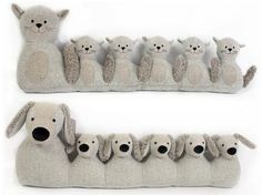 ANIMAL DESIGN GREY FABRIC DRAUGHT DRAFT EXCLUDERS DOOR CUSHION: