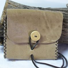 Leather Reenactor Pouch Belt Bag by DragonAlleyJournals on Etsy, $27.00