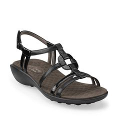 dfde4d43b53 Zyon in Black Synthetic - Womens Sandals from Clarks Most Comfortable  Sandals