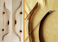 comparison of my 1950s Ply-Flex Professional Model and a horsebow.