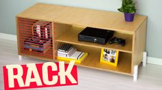 DIY- Plywood T.V Console // Storage Bench | Diycore