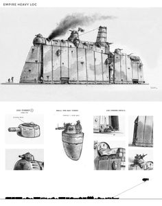 A portfolio showcasing the art of Pieter Engels. Sketches, illustrations and concept art Steampunk Ship, Steampunk Armor, Arte Steampunk, Military Drawings, Mechanical Design, Modern Warfare, Art Deco Design, Battleship, Dieselpunk