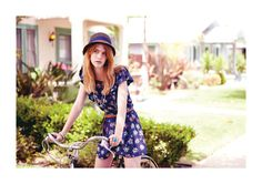 hat and dress - brixton spring lookbook