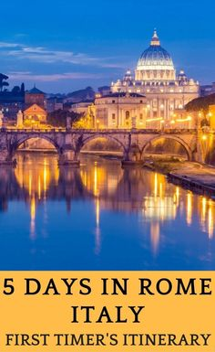 Planning a trip to Rome, Italy? In this guide to Rome you will find the best things to do in Rome in 5 days, a great 5 day itinerary to Rome. #italytravel