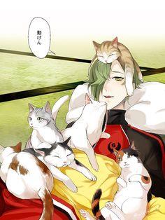 【刀剣乱舞】猫に囲まれる鶯丸【とある審神者】 : とうらぶ速報~刀剣乱舞まとめブログ~