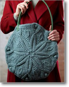 Thundersnow Bag  This crocheted carry-all is decorated with a winter motif but perfect for every season.    Linda Permann  eProject