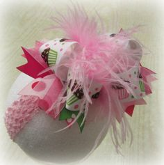 Happy Birthday Over the Top Ostrich by MyBellaBellaBowtique, $15.95