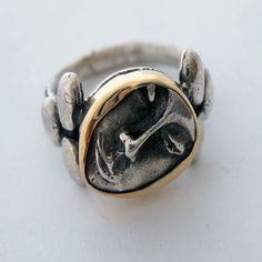 Hey, I found this really awesome Etsy listing at https://www.etsy.com/listing/236901341/silver-statement-face-ring-hand-carved