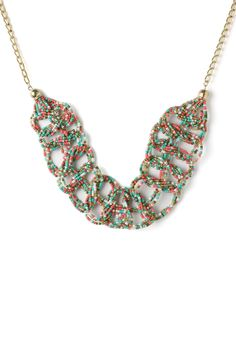 Multi-Color Bohemian Beads String Woven Necklace - Accessory - Retro, Indie and Unique Fashion