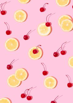Cherry Lemonade // Violet Tinder Studios Wallpaper
