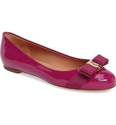 1647459147b288 Salvatore Ferragamo Varina Leather Flat (Women)