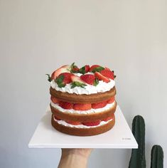 Image about cool in Cakes, I want to eat! Pretty Birthday Cakes, Pretty Cakes, Diy Birthday, Think Food, I Love Food, Cute Desserts, Dessert Recipes, Just Cakes, Cafe Food