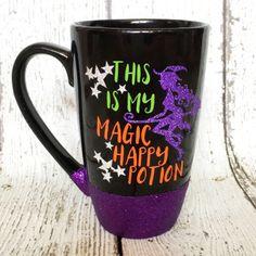 Halloween Mug - Halloween Coffee Mug - Witch Mug - Funny Coffee Mug - Glitter Coffee Mug - Halloween Party - Halloween Decor - Latte Mug by GlitzyMissDesignsCo on Etsy https://www.etsy.com/listing/468332559/halloween-mug-halloween-coffee-mug-witch