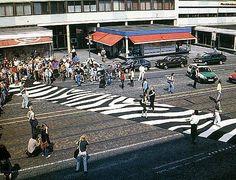 """Lucius Burckhardt, Zebra Crossing, 1993 - photo from slow ottawa on Twitter"