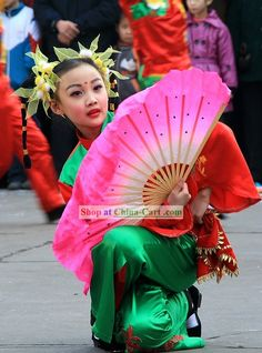 Image detail for -Chinese Fan Dance Costume Complete Set