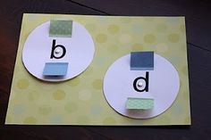 Good idea for helping teach the difference in p, d, b, and q (which always seem to confuse my little guy)