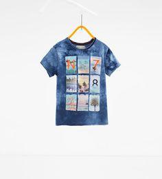 Camiseta estampado y boradado
