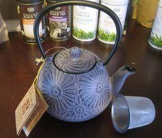 Lavender tetsubin cast iron teapot