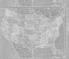 Large gray world map fabric by aftermyart on spoonflower custom minimalist grey and white map of the united states fabric by aftermyart on spoonflower custom gumiabroncs Choice Image