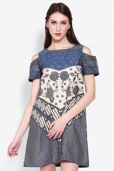 Just learn the pattern Model Dress Batik, Batik Dress, Patchwork Dress, Shirt Dress Pattern, Dress Patterns, Simple Dresses, Casual Dresses, Gaun Dress, Batik Kebaya