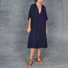 TYSA Long Spirit Dress in Navy – Tamarind