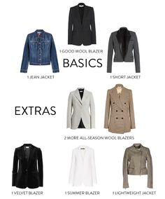 wardrobe essentials jackets