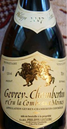 2006 Philippe Leclerc Gevrey-Chambertin 1er Cru Combes aux Moines