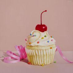 Kathie's Cupcake, painting by artist Oriana Kacicek