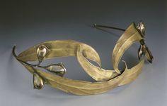 Art Nouveau Tiara of Silver and Topaz, Circa 1890