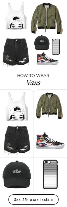 """""""Sk8r Girl"""" by lauren-halse-anderson on Polyvore featuring Topshop, Hollister Co., Vans and Casetify"""