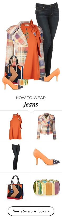 """Mixed up orange"" by maison-de-forgeron on Polyvore featuring Paige Denim, Vivienne Westwood Anglomania, River Island, B Store and Ippolita"