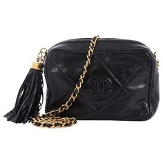 421d03a2dda8ed For Sale on - This Chanel Vintage Diamond CC Camera Bag Quilted Leather  Small, crafted in black quilted leather, features woven in leather chain  strap, ...