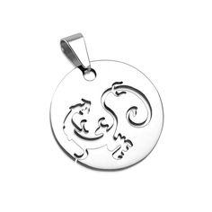 Runder Edelstahlanhänger Drache - Piercing-Trend.com Piercing, Miller Sandal, Tory Burch, Long Necklaces, Dragons, Piercings, Body Piercings