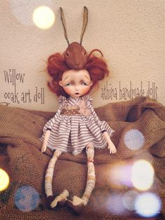 Willow ooak art doll by athinahandmadedolls on Etsy