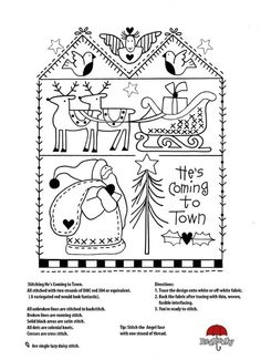 Christmas embroidery pattern by rosalind