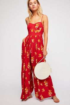 Free People What Is Love Jumpsuit - Ruby Combo 0 Printed Jumpsuit, Outfit Goals, What Is Love, Jumpsuits For Women, Spring Summer Fashion, Summer Outfits, Summer Clothes, Free People, Floral Prints