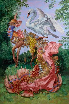 Heidi Taillefer, cette artiste extraordinaire, maniant le plomb et l'acrylique de façon surréaliste www.zeutch.com