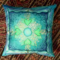 Silk pillow, 40x40 cm